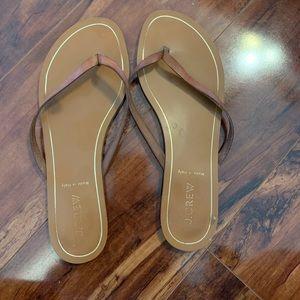 Jcrew Classic flip flops.